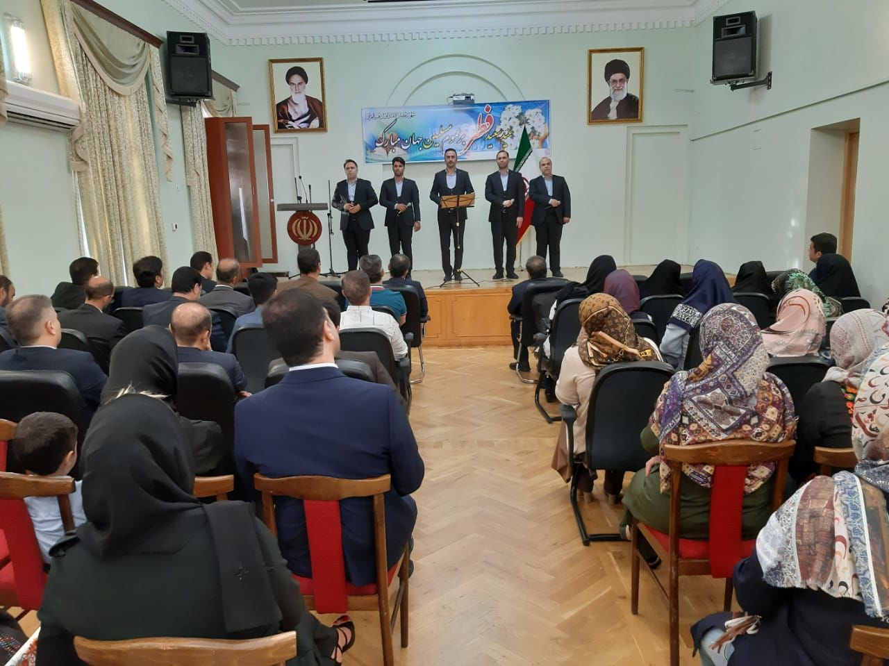 اجرای گروه بین المللی لیله القدر در جشن عید سعید فطر در شهر ایروان